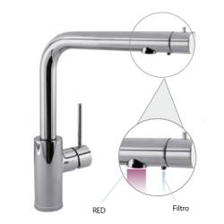 Monomando fregadero vertical doble función con filtro TRES