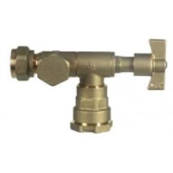Válvula De Salida Con Purga Conexión A Polietileno Ø exterior 32 mm. DN 20