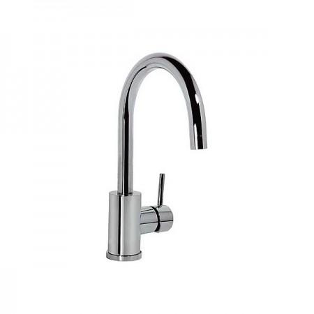 Faucet single lever basin Caño Curvo 32 Cm. - ALPLUS TRES