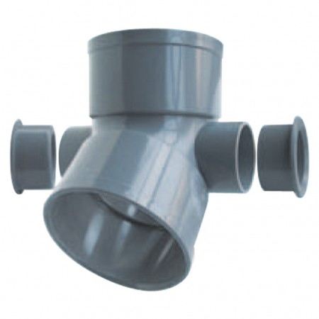 Elbow F/F 45º with 2 lateral inlets 50 A-305 RIUVERT