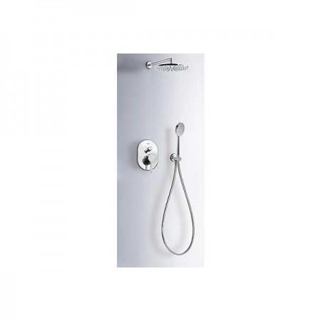 Kit doccia monocomando incorporato ALPLUS Con supporto a parete
