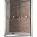 Conjunto mampara RECIFE + Plato de ducha textura PIZARRA