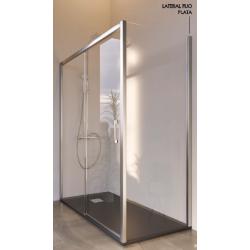 Pannello doccia fisso per pareti divisorie con guida inferiore