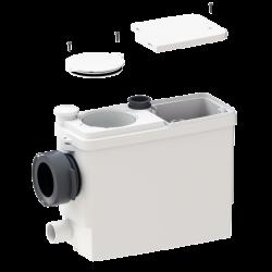 SANIPACK PRO UP - Triturador para WC suspendido, lavabo, duchay bidé con trampilla de acceso al motor