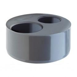 Double reducer cap PVC Ø125 - 50 - 40 X-54 RIUVERT