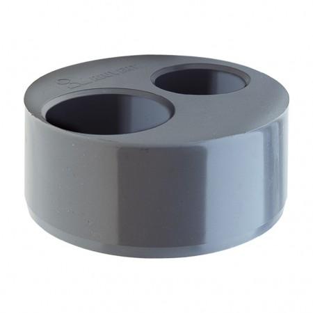 Double bouchon réducteur PVC pour l'évacuation Ø125 - 50 - 50 X-55 RIUVERT