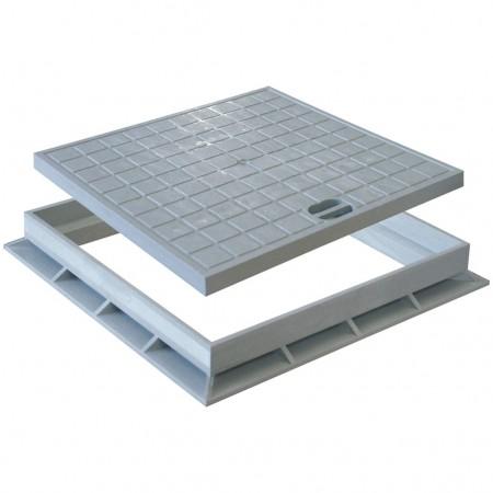 Couvercle renforcé piéton avec cadre pour caisse en PVC A-179 RIUVERT