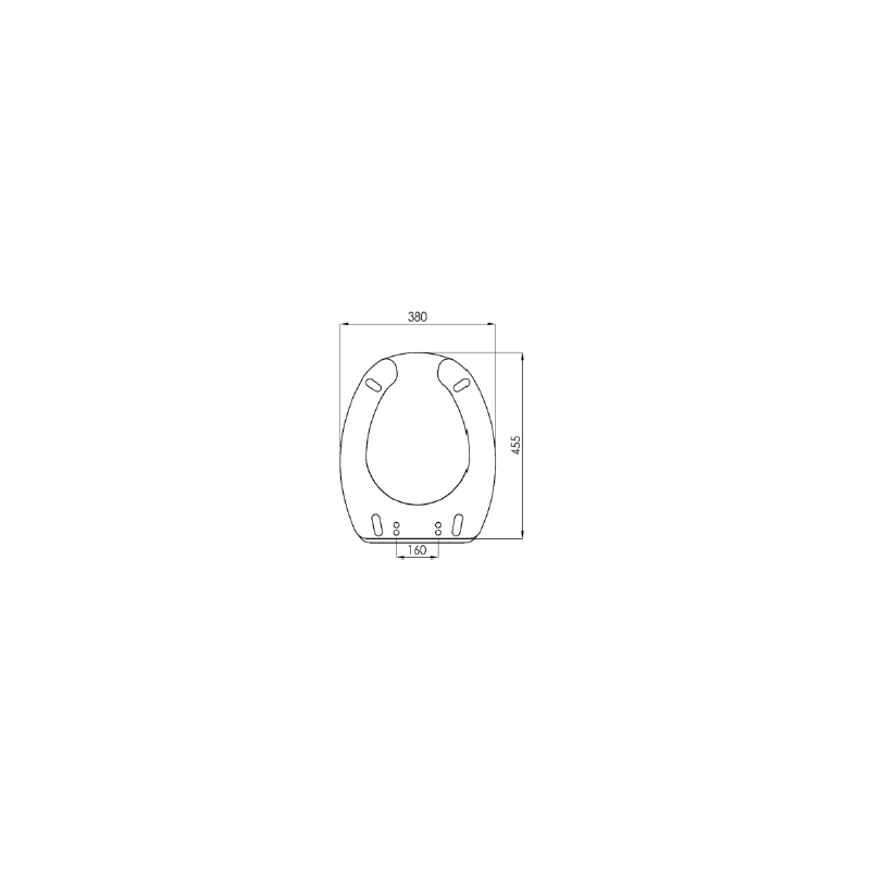 Asiento wc con apertura frontal para inodoro genwec disper for Asiento apertura