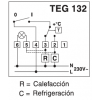 TERMOSTATO AMBIENTE TEG 132 CON ENCENDIDO/APAGADO