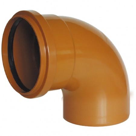 Coude M-H avec joint à lèvre 87º Couleur Orange RIUVERT