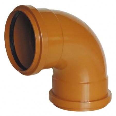 Coude H-H avec joint à lèvre 87º Couleur Orange RIUVERT