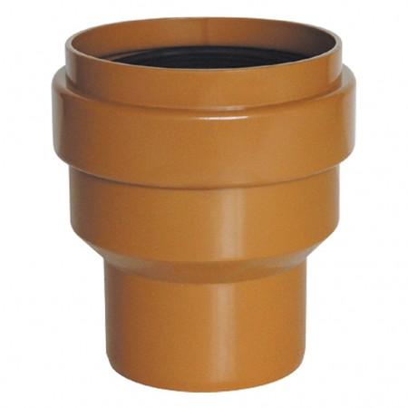 Lien mixte Gres-PVC Union à PVC Colle Mâle Couleur Orange RIUVERT