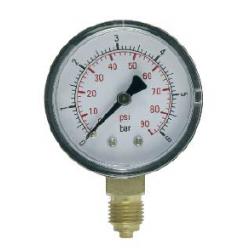 Manômetro com conexão radial de dupla escala DN50