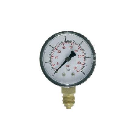 Manómetro Conexión Radial Doble Escala DN50