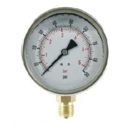 Manómetro En Baño De Glicerina Conexión Radial D100