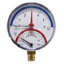 Termomanómetro de conexión radial DN80