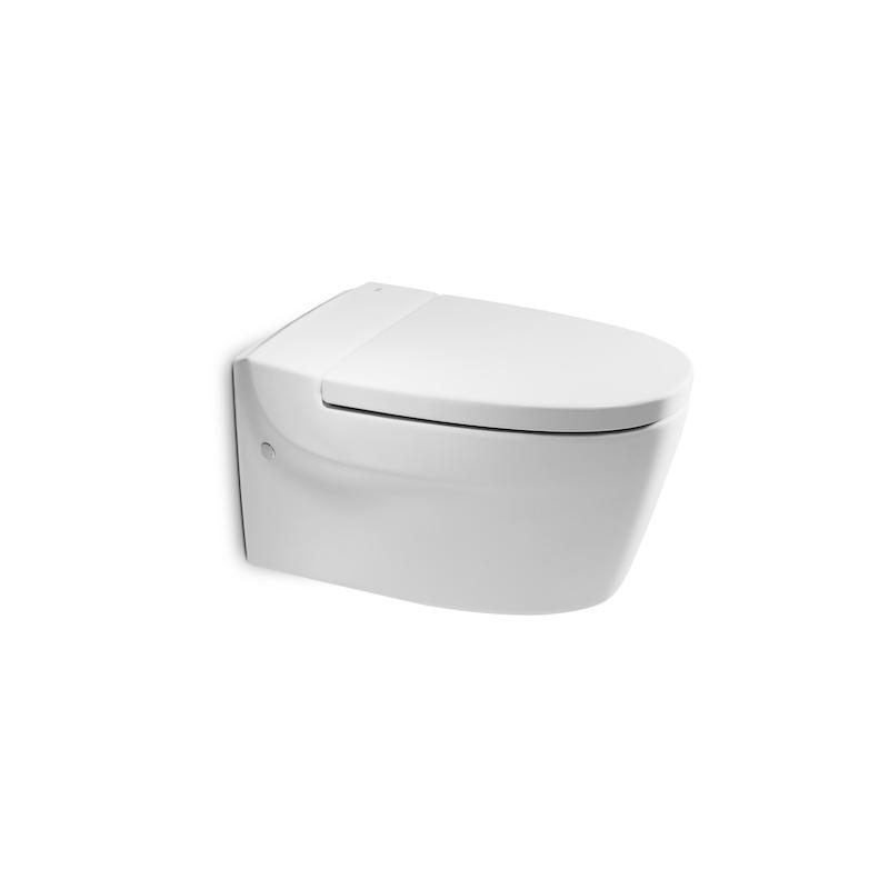 Asiento wc y tapa original con caida amortiguada khroma for Inodoro roca khroma