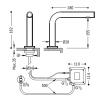 Torneira eletrônica para 1 bacia de água TOUCH - TRES