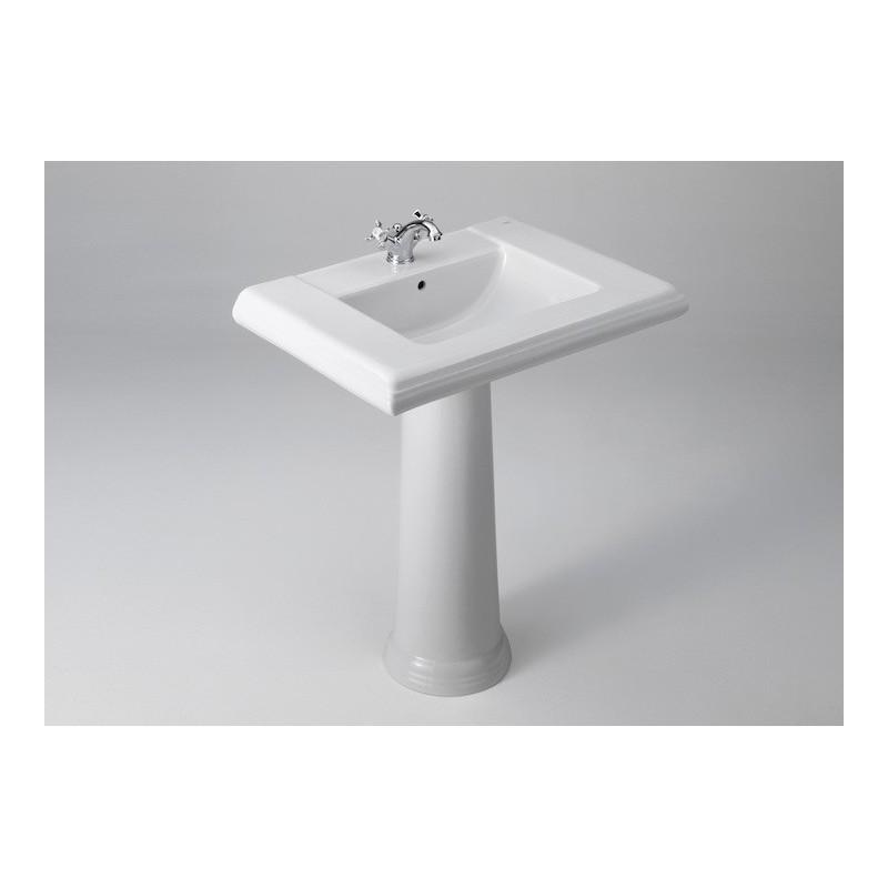 Lavabo para pedestal o sobre mueble america roca disper - Mueble lavabo pedestal ...