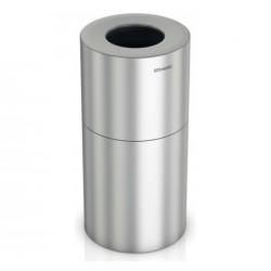 Papelera De Aluminio Satinado 130 L.