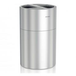 Papelera De Reciclaje De Aluminio Satinado 60 + 60 L.