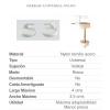 Tapa WC Universal Modelo Redondo Blanco