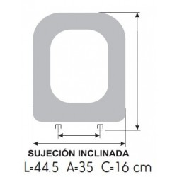 Tapa WC IDEAL STANDARD CONCA
