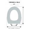 Tapa WC Infantil CERÁMICA CIELO (Tapa + Aro)
