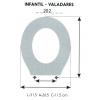 Tapa WC Infantil VALADARES (Tapa + Aro)