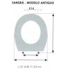 ASIENTO INFANTIL SANGRA - MODELO ANTIGUO (SOLO ARO)