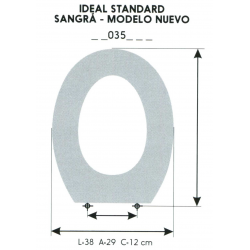 ASIENTO INFANTIL IDEL STANDARD / SANGRA MODELO NUEVO (SOLO ARO)