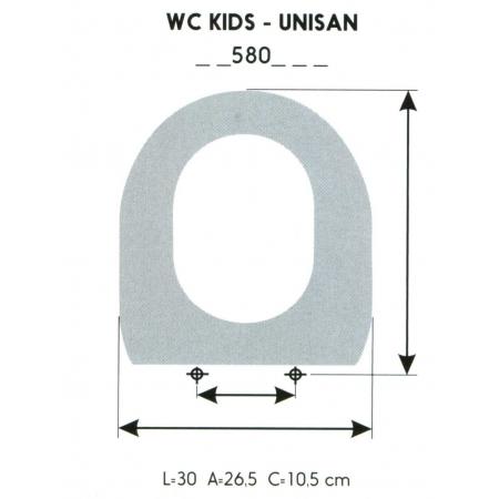 ASIENTO INFANTIL WC KIDS-UNISAN (SOLO ARO)