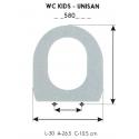 Asiento WC Infantil WC KIDS-UNISAN (Solo Aro)