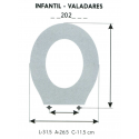 Child Toilet Seat VALADARES (ONLY RING)
