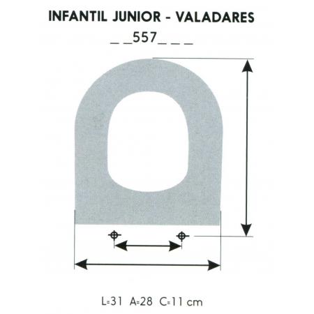 ASIENTO INFANTIL JUNIOR-VALADARES (SOLO ARO)
