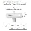 LAVABO MURAL DAMA