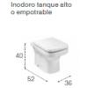 INODORO DE TANQUE ALTO ADOSADO A PARED DAMA