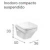 INODORO SUSPENDIDO COMPACTO DAMA