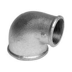 Reducing elbow 90º F/F - Galvanized iron