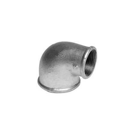 Gomito 90º di riduzione F/F - Ferro zincato