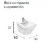 BIDE SUSPENDIDO COMPACTO DAMA