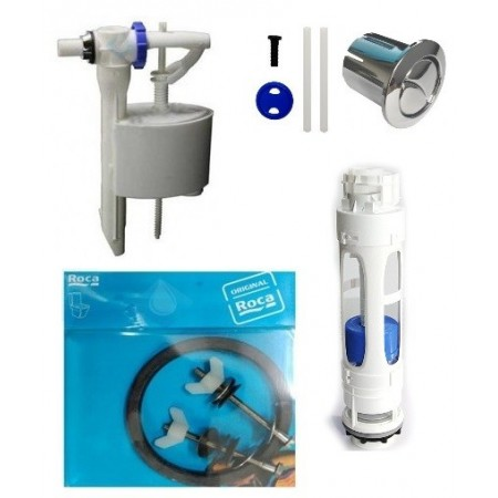 Juego completo de mecanismos roca para cisterna de doble for Pulsador cisterna