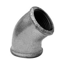 Elbow 45º F/F - Galvanized iron
