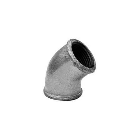 Gomito 45° F/F - Ferro zincato