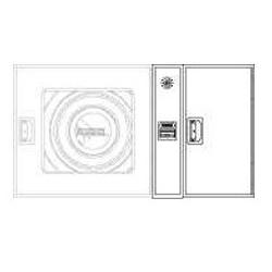 Armario De Extintor + Alarma Fabricado En Una Pieza Modelo Plus. Dimensiones: 650 X 420 X 180Mm