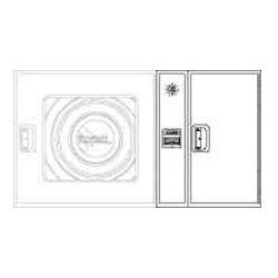 Armario De Extintor + Alarma Fabricado En Una Pieza Modelo Star. Dimensiones: 650 X 420 X 195Mm