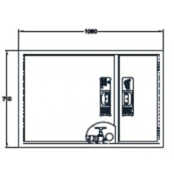 Sistema Modular Horizontal Bie + Arm. Extintor. Dimensiones: 650 X 1000 X 195 Mm
