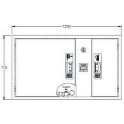 Sistema Modular Horizontal Bie + Arm. Extintor + Alarma. Dimensiones: 650 X 1150 X 195 Mm