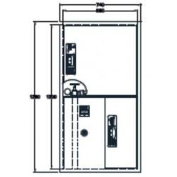 Sistema Modular Vertical Bie + Arm. Extintor + Alarma. Dimensiones: 1300 X 680 X 195 Mm