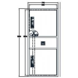 Sistema Modular Vertical Bie + Arm. Extintor + Alarma. Dimensiones: 1500 X 680 X 195 Mm